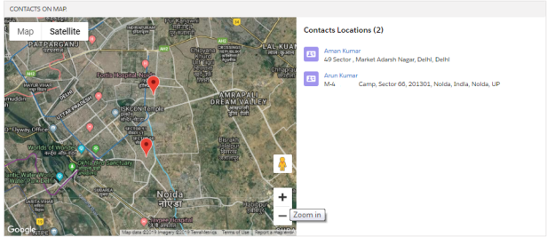 lightning:map – Show Contacts Location On Google Map  – SFDC